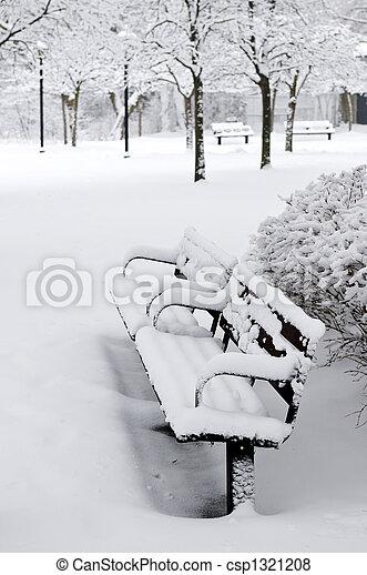 公園, 冬 - csp1321208