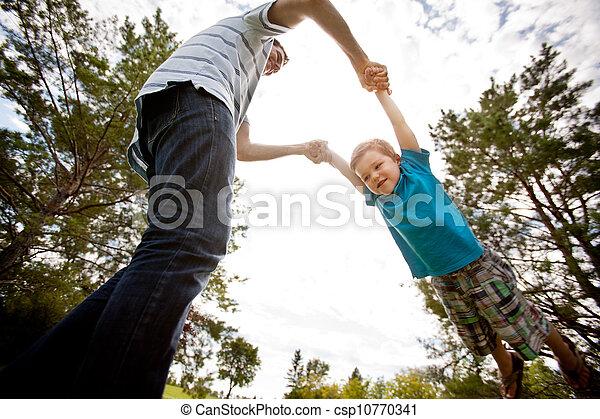 公園, 父, 遊び, 息子 - csp10770341