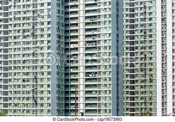 公衆, ハウジング, 香港 - csp19573993