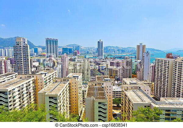 公衆, ハウジング, 香港 - csp16838341