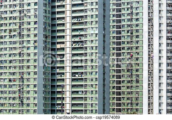 公衆, ハウジング, 香港 - csp19574089