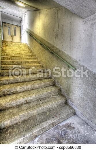 公衆, hong, 階段, ハウジング, kong - csp8566830