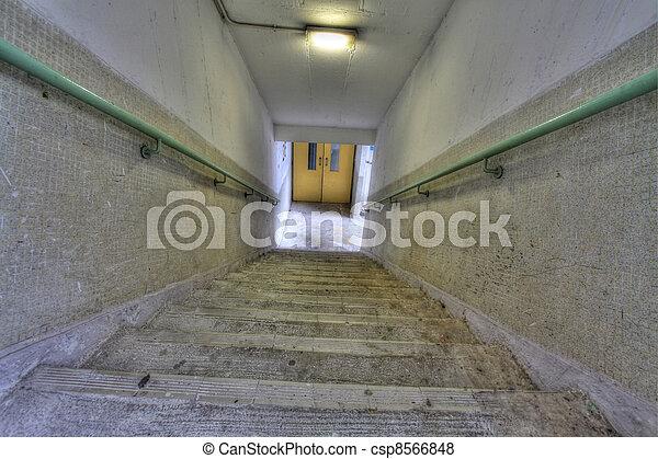 公衆, hong, 階段, ハウジング, kong - csp8566848