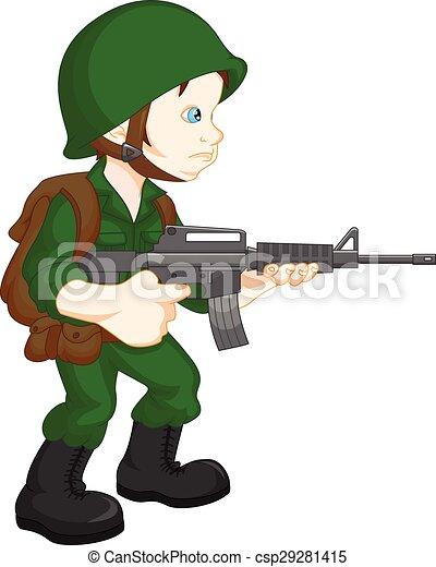 兵士 軍隊 ポーズを取る 男の子 男の子 軍隊 イラスト 兵士
