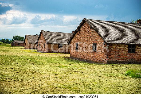兵营, 集中营, 纳粹, 以前 - csp31023961