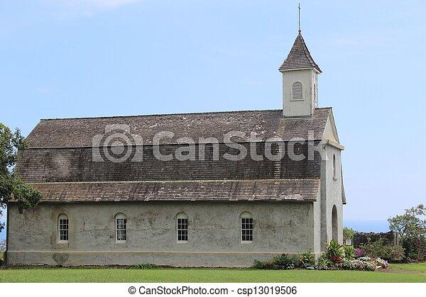 具有历史意义, 夏威夷, 教堂 - csp13019506