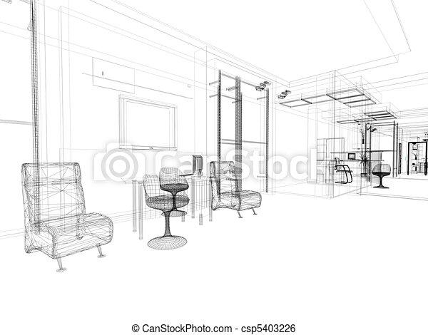 内部, オフィス - csp5403226