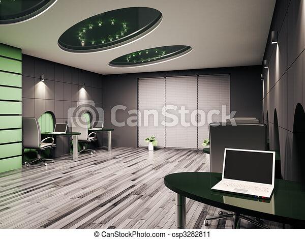 内部, コンピュータ, オフィス, 3d - csp3282811
