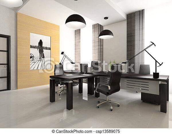 内部, レンダリング, 3d, オフィス, キャビネット - csp13589075