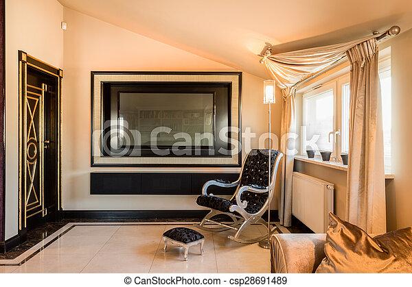 内部, 住处, 巴罗克艺术风格, 房间 - csp28691489