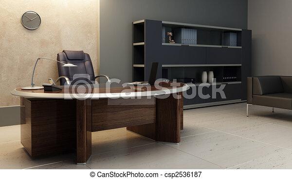 内部, 現代, オフィス - csp2536187