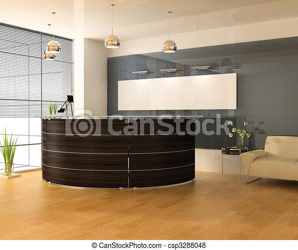 内部, 現代, オフィス - csp3288048
