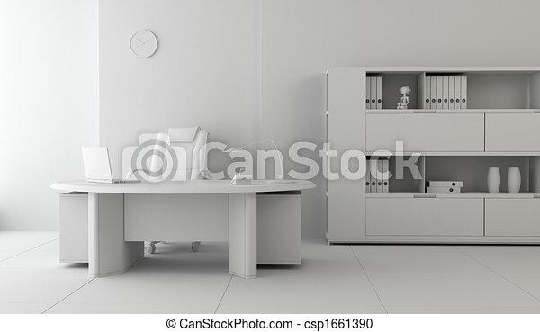 内部, 現代, オフィス - csp1661390