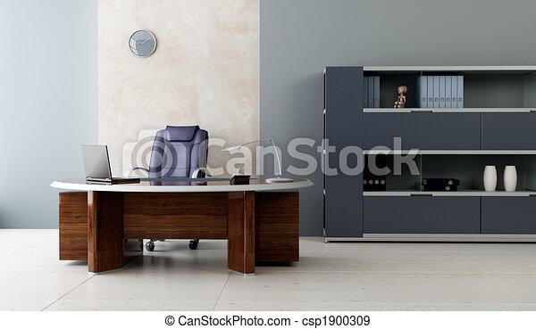 内部, 現代, オフィス - csp1900309