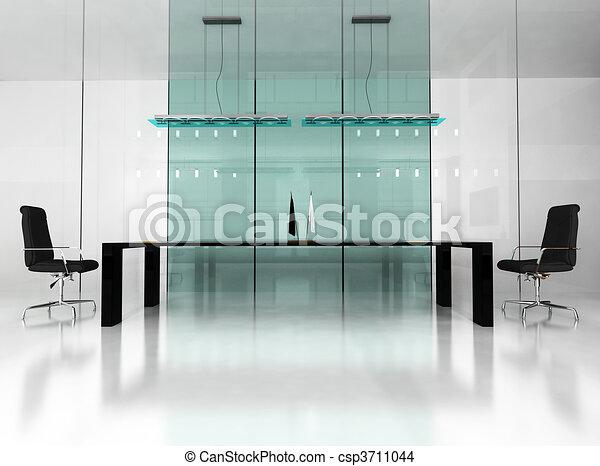内部, 現代, オフィス - csp3711044