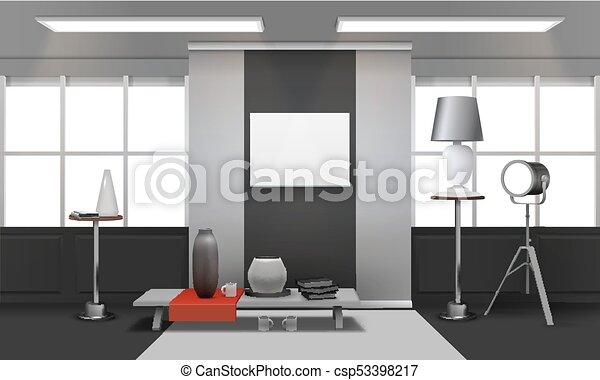 内部, 現実的, 屋根裏 - csp53398217