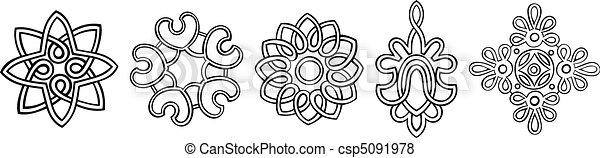 円形浮彫り, 定型 - csp5091978