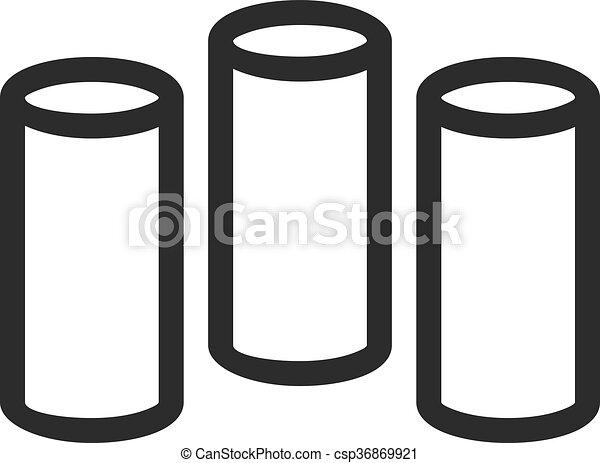円筒状である, バー - csp36869921