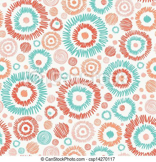 円, いたずら書き, textured, seamless, 背景 パターン - csp14270117