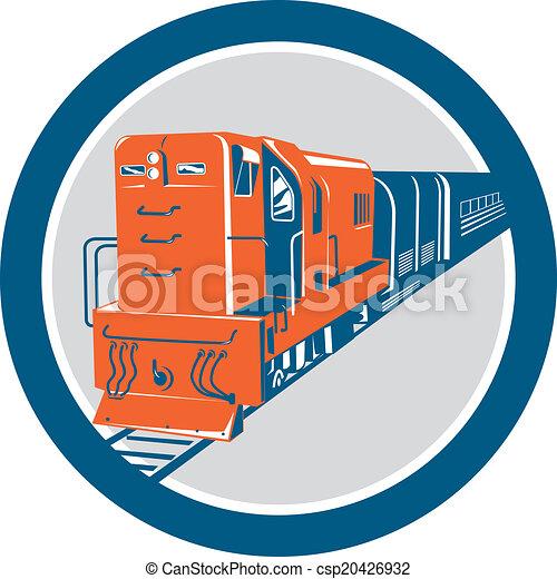 円, 列車, ディーゼル, レトロ - csp20426932