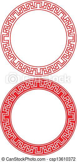 円, 装飾, 中国語 - csp13610372