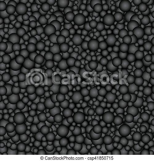 円, 黒い背景, buble - csp41850715