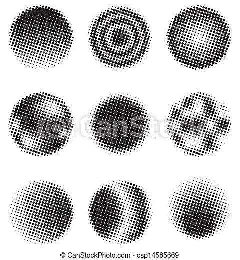 円, halftone - csp14585669
