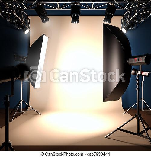 写真の スタジオ, template., 背景 - csp7930444