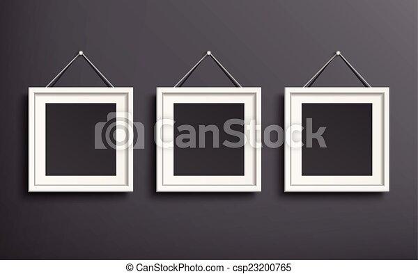 写真フレーム, セット, テンプレート, ブランク - csp23200765