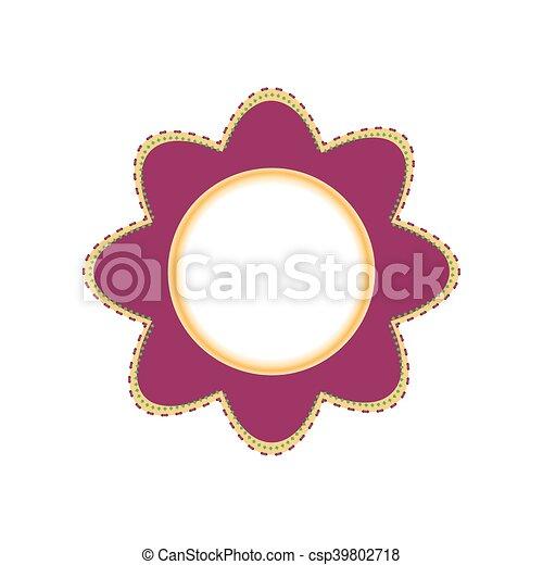 写真フレーム, 花, カモミール, 形 - csp39802718