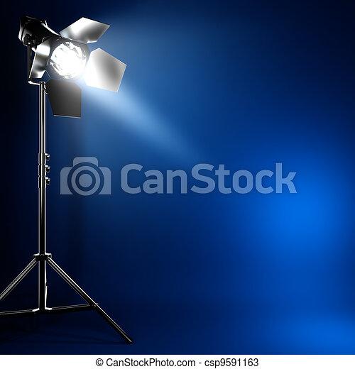 写真, フラッシュ, light., 梁, スタジオ, ライト - csp9591163