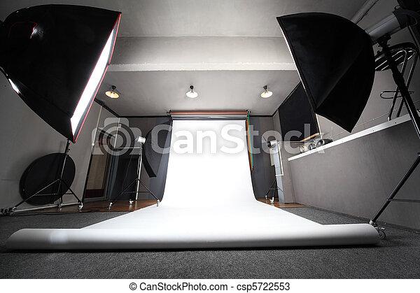 写真, 将官, スタジオ, 背景, 内部, 専門家, 白, 光景 - csp5722553