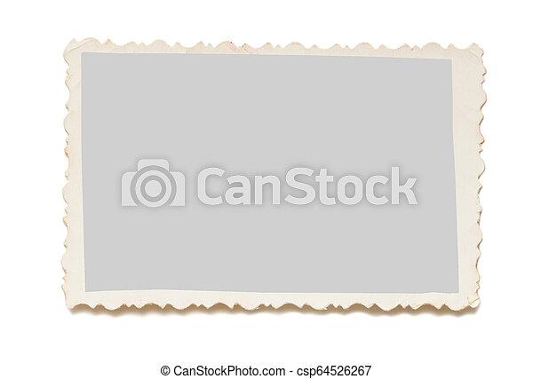 写真, 白, 古い, 背景 - csp64526267