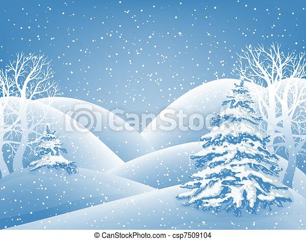 冬天, 背景 - csp7509104
