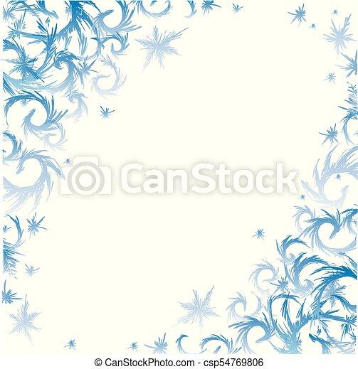 冬 フレーム 霜 テンプレート 引かれる Decorhand 冬 フレーム