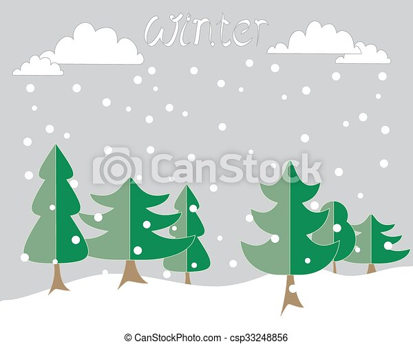 冬, 背景 - csp33248856