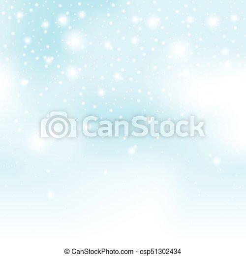 冬, 雪, イラスト, ベクトル, 背景, クリスマス - csp51302434