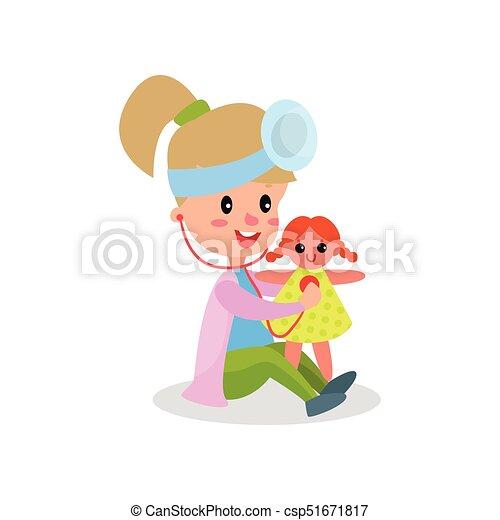 処理 かわいい 彼女 医者 イラスト ベクトル 専門家 人形 女の子 衣類 遊び 子供 処理 かわいい 彼女 医者 隔離された イラスト 遊び ベクトル 背景 専門家 人形 白 衣類 女の子 子供