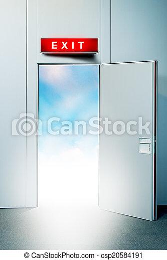 出口, 天堂, 門 - csp20584191