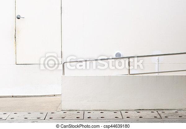 出口, 輪椅, door., 斜坡梯, 緊急事件 - csp44639180