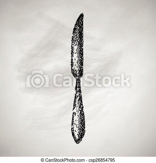 刀子圖標 - csp26854795