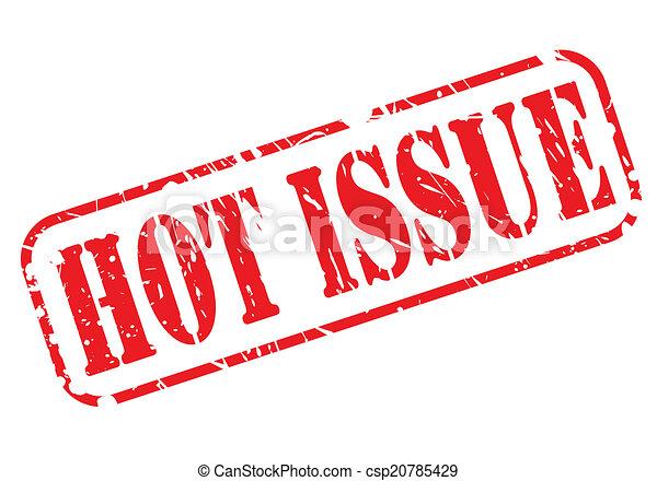 切手, テキスト, 暑い, 問題, 赤 - csp20785429