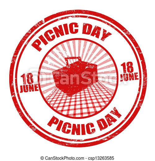 切手, ピクニック, 日 - csp13263585