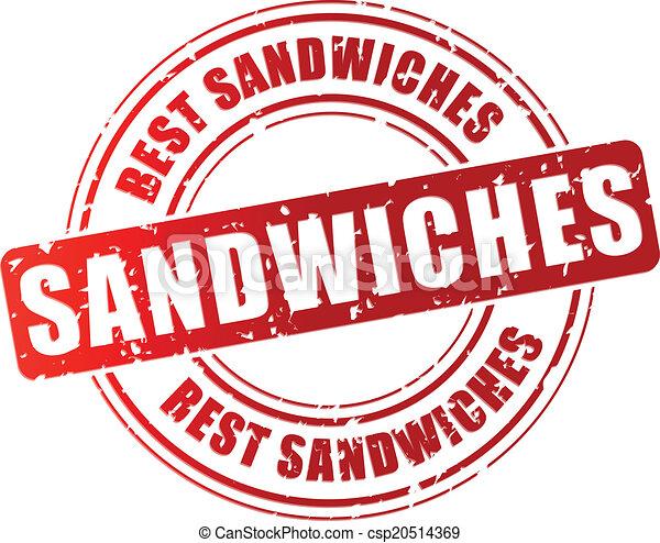 切手, ベクトル, サンドイッチ, 最も良く - csp20514369