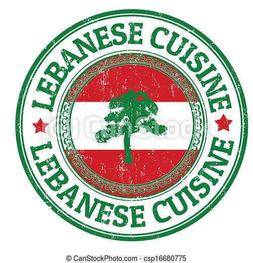 切手, レバノン, 料理 - csp16680775