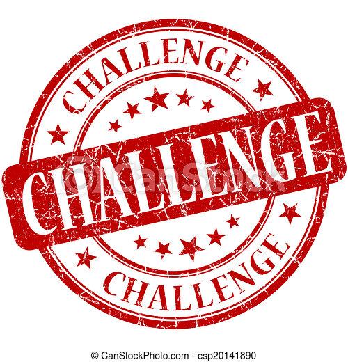 切手, 型, 挑戦, ゴム, grungy, ラウンド, 赤 - csp20141890