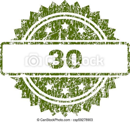 切手, 30, グランジ, textured, シール - csp59278903