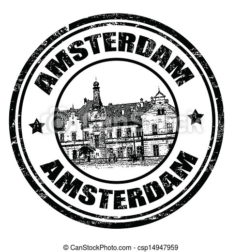 切手, amterdam - csp14947959