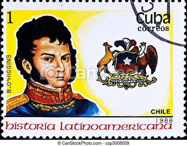 切手, b., 知事, チリ, ショー, o\'higgins - csp3008009