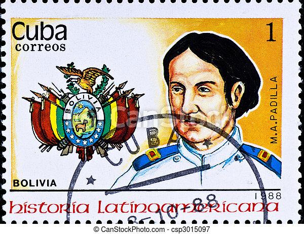 切手, m., a.。, 責任者, padilla, ボリビア, ショー - csp3015097
